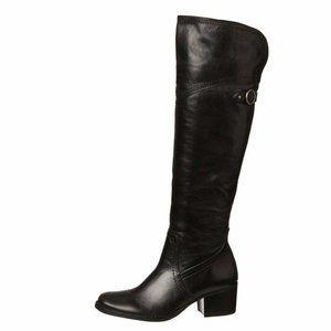 Matisse Sagebrush Tall Leather Knee Boots Black 10